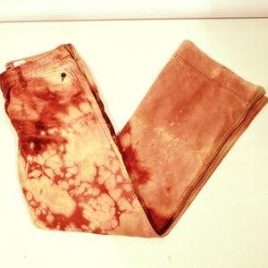 EDDIE BAUER X CUSTOM Acid Wash Pants Corduroy Red